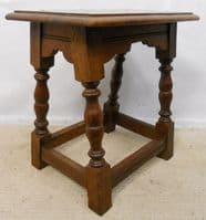 Oak Joint Stool in Antique Style